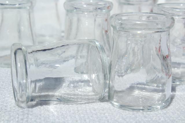 Mini Glass Cream Milk Bottles Lot Old Individual Creamers Vintage Restaurant Ware