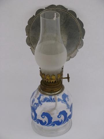 Wall Mounted Garden Oil Lamps : mini oil lamps lot, wall sconce lantern light w/ reflector, red strawberry lamp