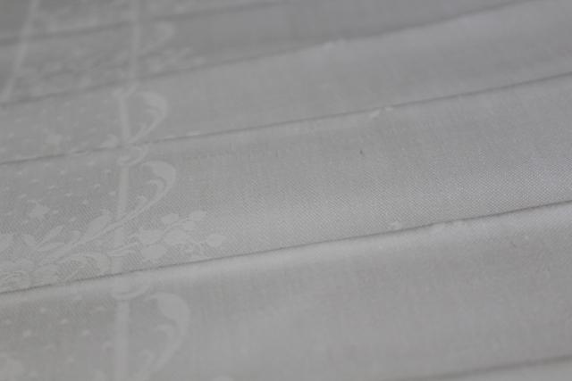 mint condition vintage Irish linen damask, large dinner napkins set of 8