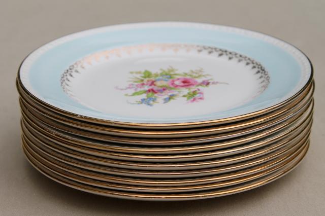 Mismatched Vintage China Dessert Wedding Cake Plates