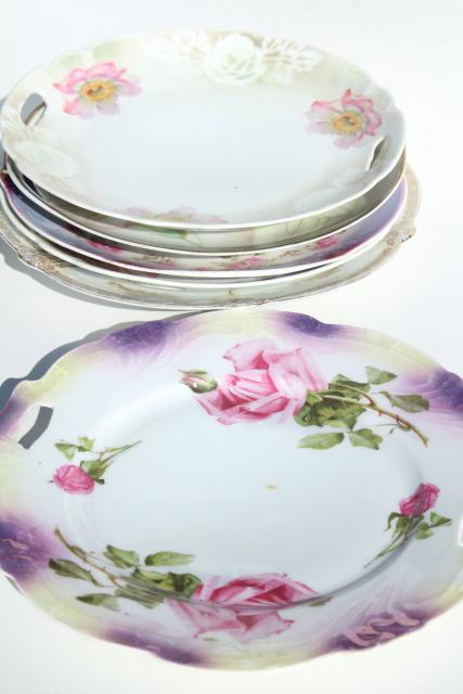 mismatched vintage china plates and serving trays, tea party pretty w/ tons of flowers!