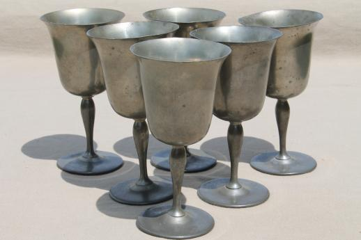 Mixed Lot Antique Amp Vintage Pewter Goblets Medieval Style