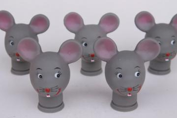 mouse heads for cloth dolls, grey mice faces vinyl rubber plastic heads for stuffed toys