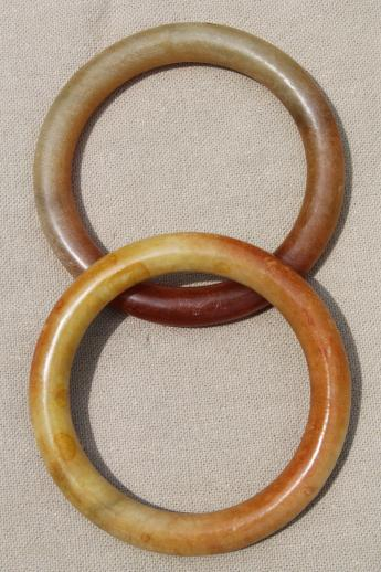 natural stone bangles, bracelets or large stone ring handles or curtain tie-backs