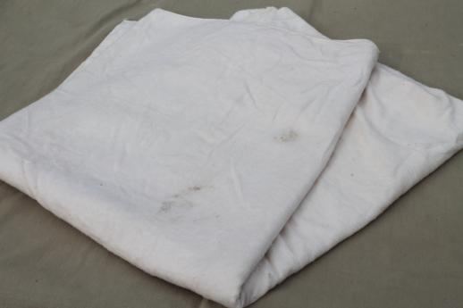 natural unbleached cotton flannel burp cloths & blanket, unused vintage baby blankets