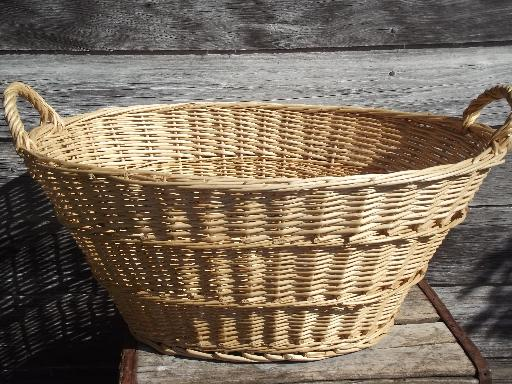 Large Wicker Laundry Basket Interior Design Ideas