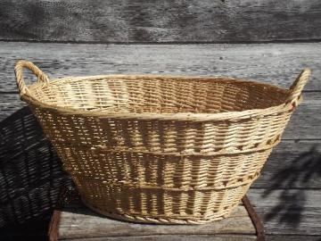 natural wicker laundry basket, wash line laundry room clothes basket