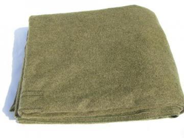 never used vintage wool U.S. Army blanket, Rock River Woolen Mills