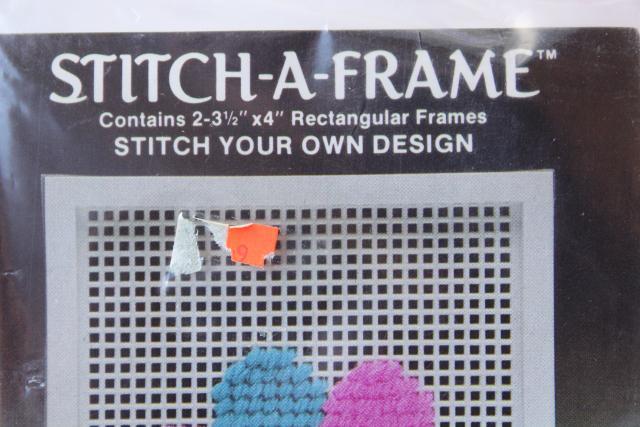 New Old Stock Craft Supplies Destash Plastic Canvas Stitch A Frame