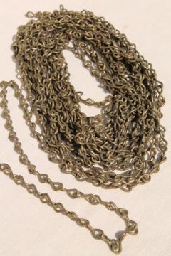 new old stock solid brass lamp chain, vintage hardware for antique lighting restoration