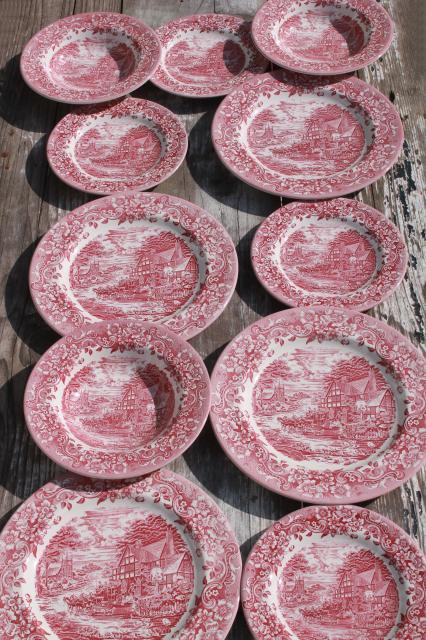 New Red Transferware China Plates Amp Bowls 17th Century