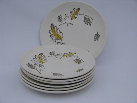 & oak leaf and acorn autumn leaves vintage pottery plates