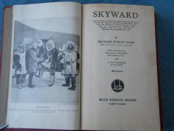 old 1928 vintage Admiral Richard Byrd trans-Atlantic/polar exploration