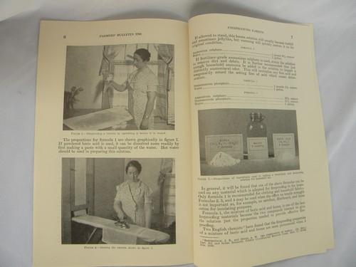 old 1930s Fireproofing Fabric USDA Farmers' Bulletin No 1786