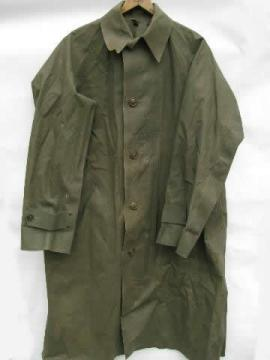 old 1945 olive drab WWII dismounted soldier/sentry rubber raincoat