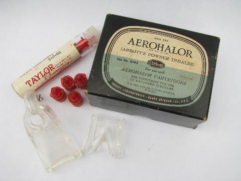 old 1950s Abbott's Aerohalor medical inhaler quack medicine