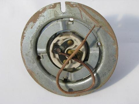 old Appleton electric sockets for industrial lighting, explosion proof lights