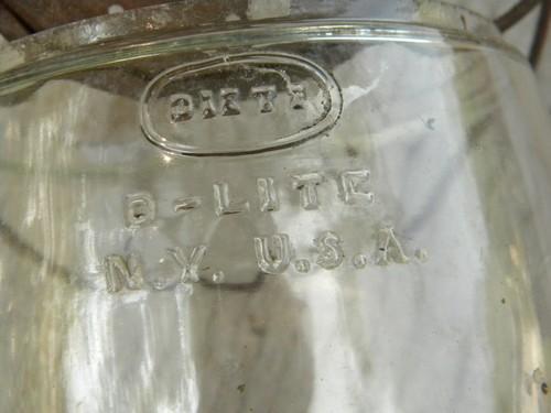 Old Dietz D Lite Barn Lantern Globe For Replacement Part