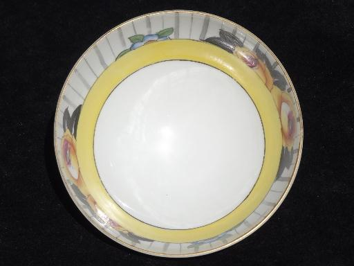 old M mark Noritake hand-painted china mayonnaise or sauce bowl w/ ladle