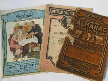 old Rawleigh's advertising catalogs, 1910, 20s & 30s, patent medicine books