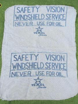 old Texel gas station or carwash towel hotrod vintage advertising