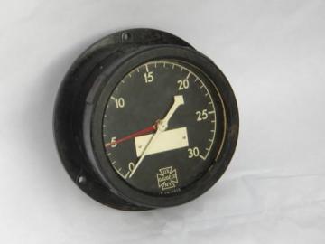 old WWII vintage US Navy warship bakelite ship's engine room gauge