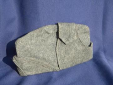 old WWII vintage wool mountaineer or hunter's hat/garrison cap w/ear flaps