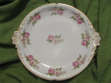 old antique CH Field GDA Haviland Limoges china serving plate w/handles