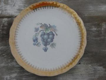 old antique D E McNichol East Liverpool Ohio china plate w/ grapes