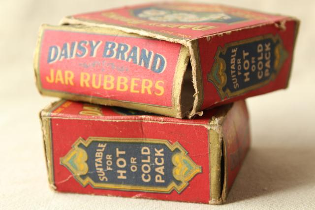 old antique Daisy rubber seals for canning, to fit half pint size mason jars