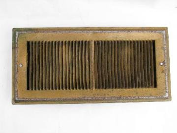 old antique architectural restoration heating register vent