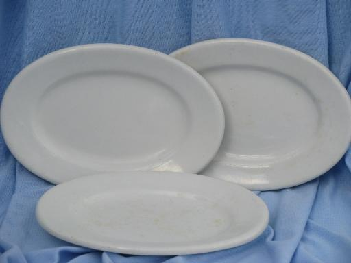 & old antique butter dishes shabby white ironstone china butter plate lot