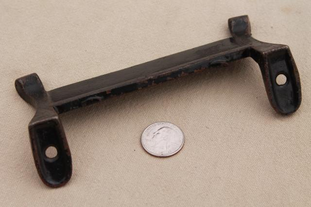 old antique cast iron shoe / boot scraper, plain blade w/ mounting bracket holes