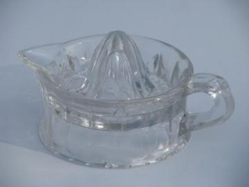 old antique glass reamer, orange or lemon juicer w/ 1909 patent date