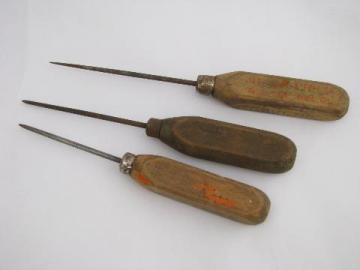 Old Antique Ice Picks, Vintage Kitchen Ice Box Tools, Worn U0026 Primitive