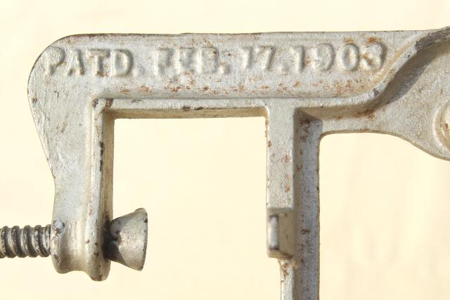 old antique ironing board hardware, fold down drop leaf articulated hinge arm wall mount bracket