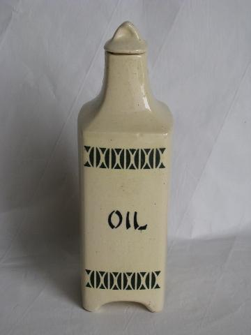 Old Antique Kitchen Canister Oil Bottle From Vintage
