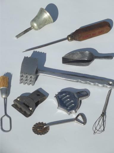 Antique Kitchen Tools ~ Old antique kitchen tools utensils lot vintage