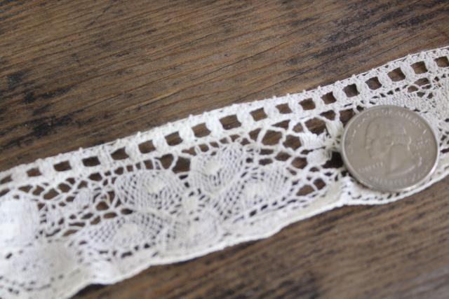 old antique lace edging w/ Irish shamrock clover, 18 yards new old stock sewing trim