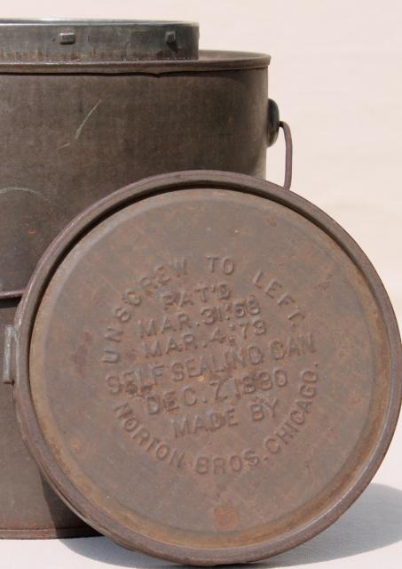 dating metal cans 1) tin cans - hole-in-top or hole-and-cap : the cans of this era were  dates  of invention of patents are helpful, however, in establishing initial dates for can.