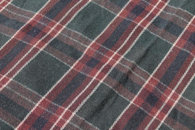 Old Antique Plaid Blanket Lap Robe For Buggy Or Horse