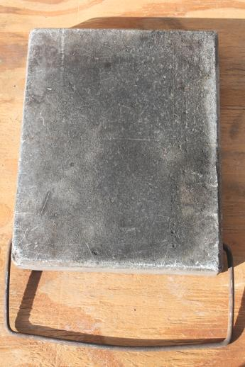 Old Antique Soapstone Block Foot Warmer For Sleigh Or Buggy