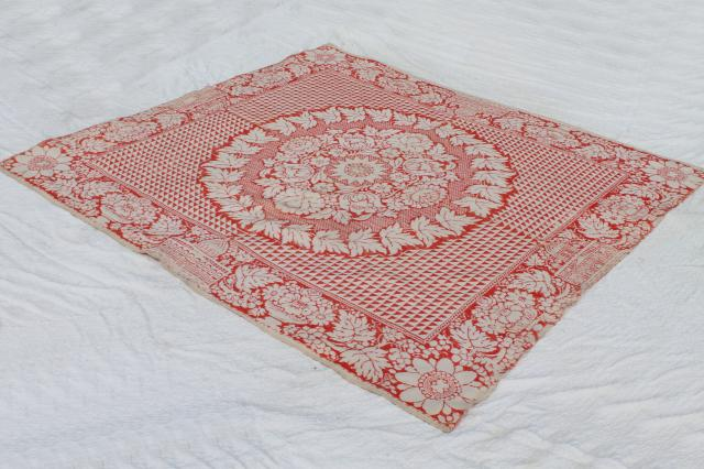 Antique Woven Wool Bed Cover