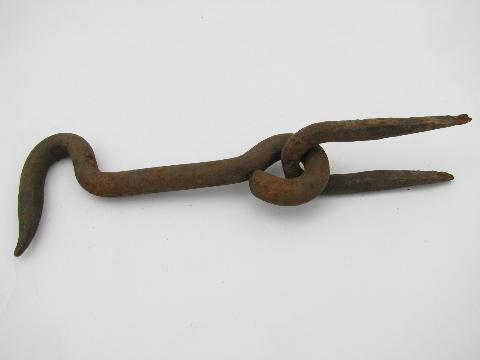 old antique wrought iron barn/stable door latch hook