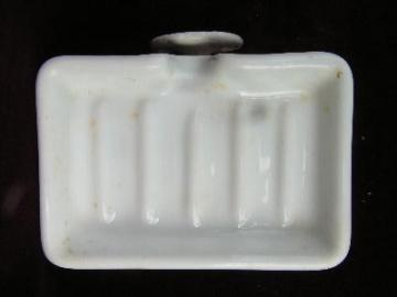 old architectural Deco bathroom soap dish