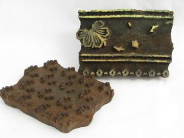 old architectural woodblock printing stamps for wallpaper boarders etc