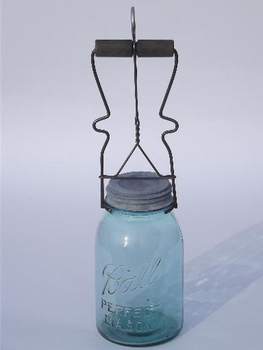 Old Canning Jar Lifter Vintage Wire Kitchen Tool Wood