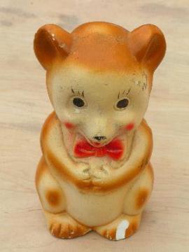 old carnival souvenir chalkware bear bank