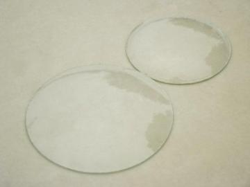 old convex glass clock face covers, or picture frame bubble curved glass