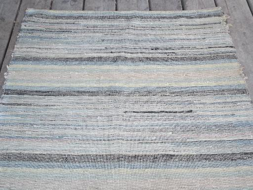 old cotton farmhouse kitchen stairs rug, long stair runner, vintage 1940s